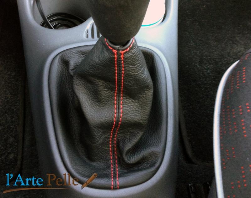 Honda Crv Botte Levier de Vitesse en Cuir Noir Fabriqué en Italie