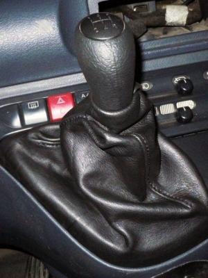 soufflet de levier de vitesse en vrai cuir noir Fiat Scudo 1° série