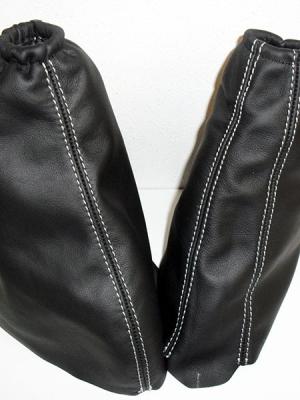 Vauxhall Zafira A soufflet de levier de vitesse et couverture du frein à main en cuir noir